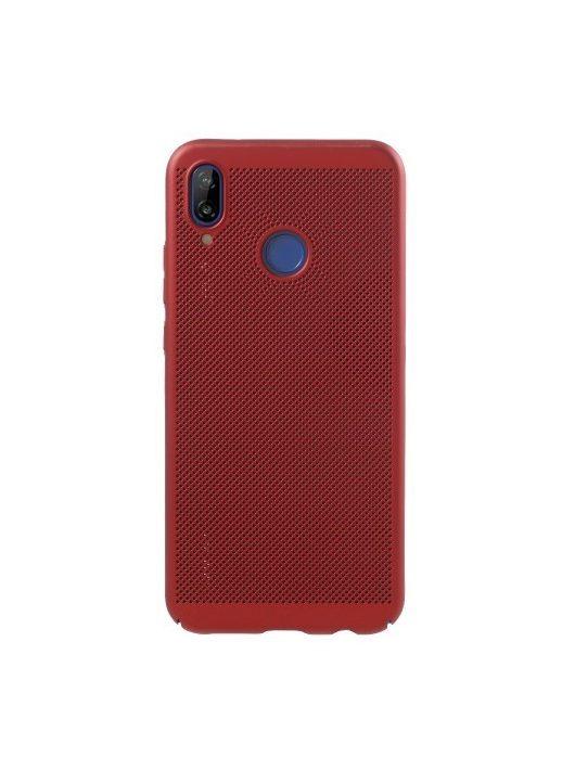 Huawei P20 Lite Hollow Mesh Style Tok Műanyag Piros
