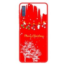 Samsung Galaxy A7 (2018) Szilikon Tok - XMASS RED Style -RMPACK- XR003