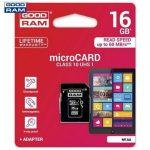 Goodram/Toshiba Memóriakártya 16GB CLASS 10 UHS-1 + SD Adapter