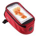 Biciklis Telefontartó / Kerékpárra (Vázra) ROSWHEEL Cipzáros 5.5'  Piros